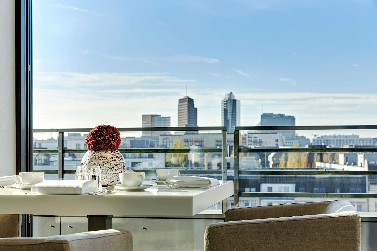 Enjoy this breathtaking view in Berlin's direct center from The Mandala Suites